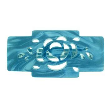 Camila - Cut Out Barrette - Blue Swirl