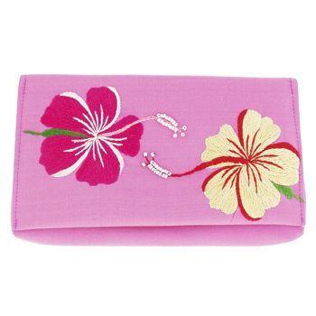 Hair beauty products 107934 chan luu hawaiian flowers silk w chan luu hawaiian flowers silk wallet fuchsia w pink yellow flowers mightylinksfo