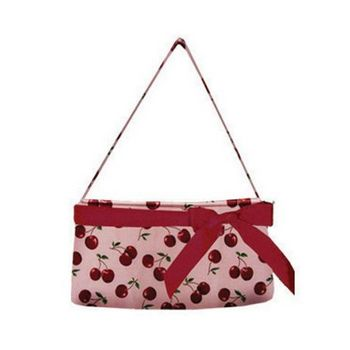 Amici Accessories - Cherry Pie -  Cherry Covered Handbag w/Red Ribbon
