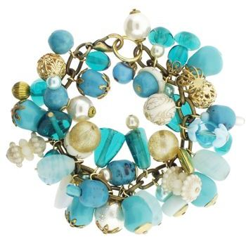 Dame Design - Small Charm - Turquoise & Aqua Blue Shades (1)