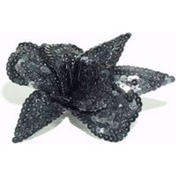 Eve Reid - Sequin Flower Pin - Hairpin/Pin (1) Black