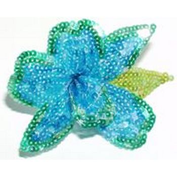 Eve Reid - Sequin Flower Pin - Hairpin/Pin (1) Turquoise