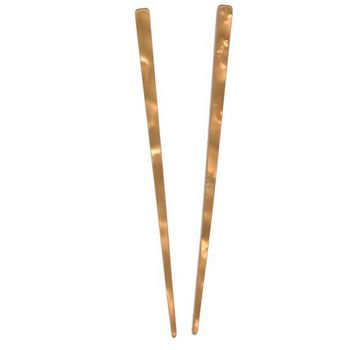 France Luxe - Pearl Brights Hair Sticks - Orange (Set of 2)