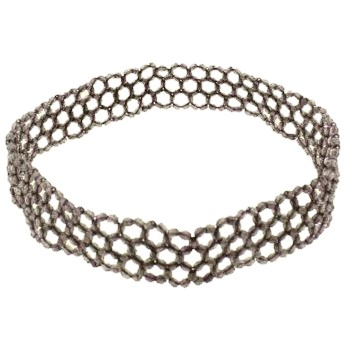 Beaded Stretch Headband - Sesame (1)