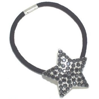 HB HairJewels - Austrian Crystal Star Pony - Smoke