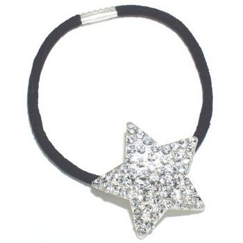 HB HairJewels - Austrian Crystal Star Pony - White