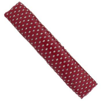 HB HairJewels - Lucy Collection - Faux Patent Leather Glitter Dot XL Barrette - Red (1)