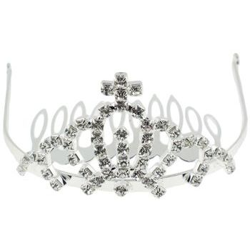 Karen Marie - Tiara Comb (1) - Crystal Cross Top