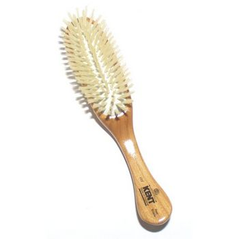 Kent - Traditional Oval Rubber Cushion Brush - White Bristle