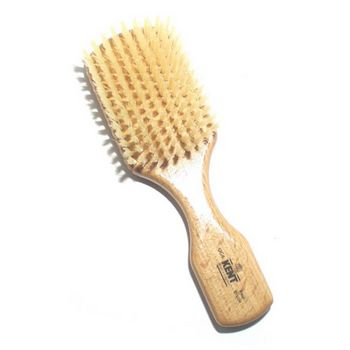 Kent - Men's Club Handled Brush - Beechwood White Bristle