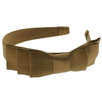 L. Erickson USA - Coco's Paris Three Tier Headband - 100% Silk Charmeuse - Mocha
