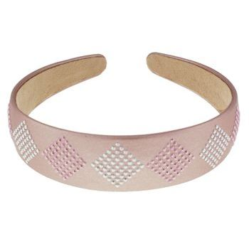 Medusa's Heirlooms - Diamond Studded Headband - Dusty Rose (1)