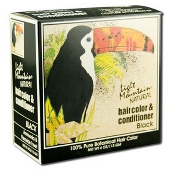 Light Mountain - Natural Hair Color & Conditioner - Black