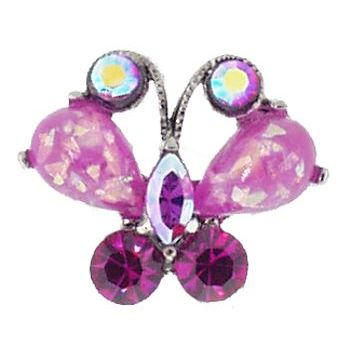 Medusa's Heirlooms - Opaque Butterfly Gem Chignon 2 Prong Pin - Lilac