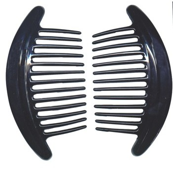 Camila - Interlocking Combs - Black (2) - All Sales Are Final On This Item