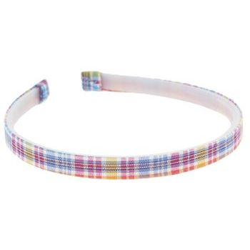 HB HairJewels - Lucy Collection - Classic Plaid Headband - Sun Rise