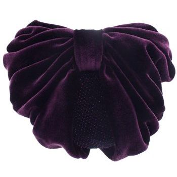 Karen Marie - Snood Collection - Large Velvet Snood with Glittered Lining - Plum