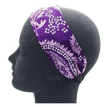 Rachel Weissman - Soft Headband - Feather Pattern - Purple (1)