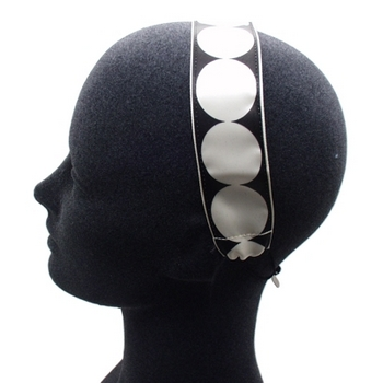 Rachel Weissman - Soft Headband - Large Dots - Cream & Chocolate (1)