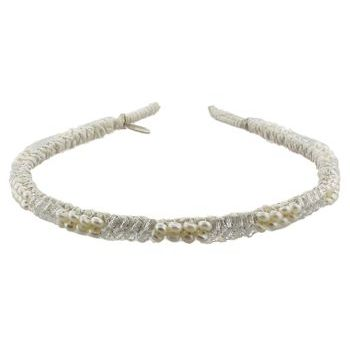 Renee Rivera - Solid Crystal and Freshwater Pearl Headband