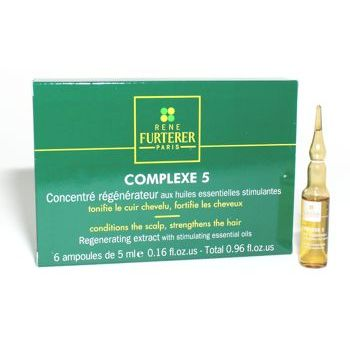 Rene Furterer - Complexe 5 Regenerating Extract with stimulating essential oils - 6 vials