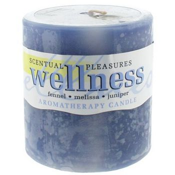 Crystal Candles - Scentual Pleasures 3inch Aromatherapy Candle - Wellness