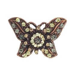 SOHO BEAT - Masquerade Collection - Jeweled Swarovski Butterfly Hair Clip - Yellow Diamond